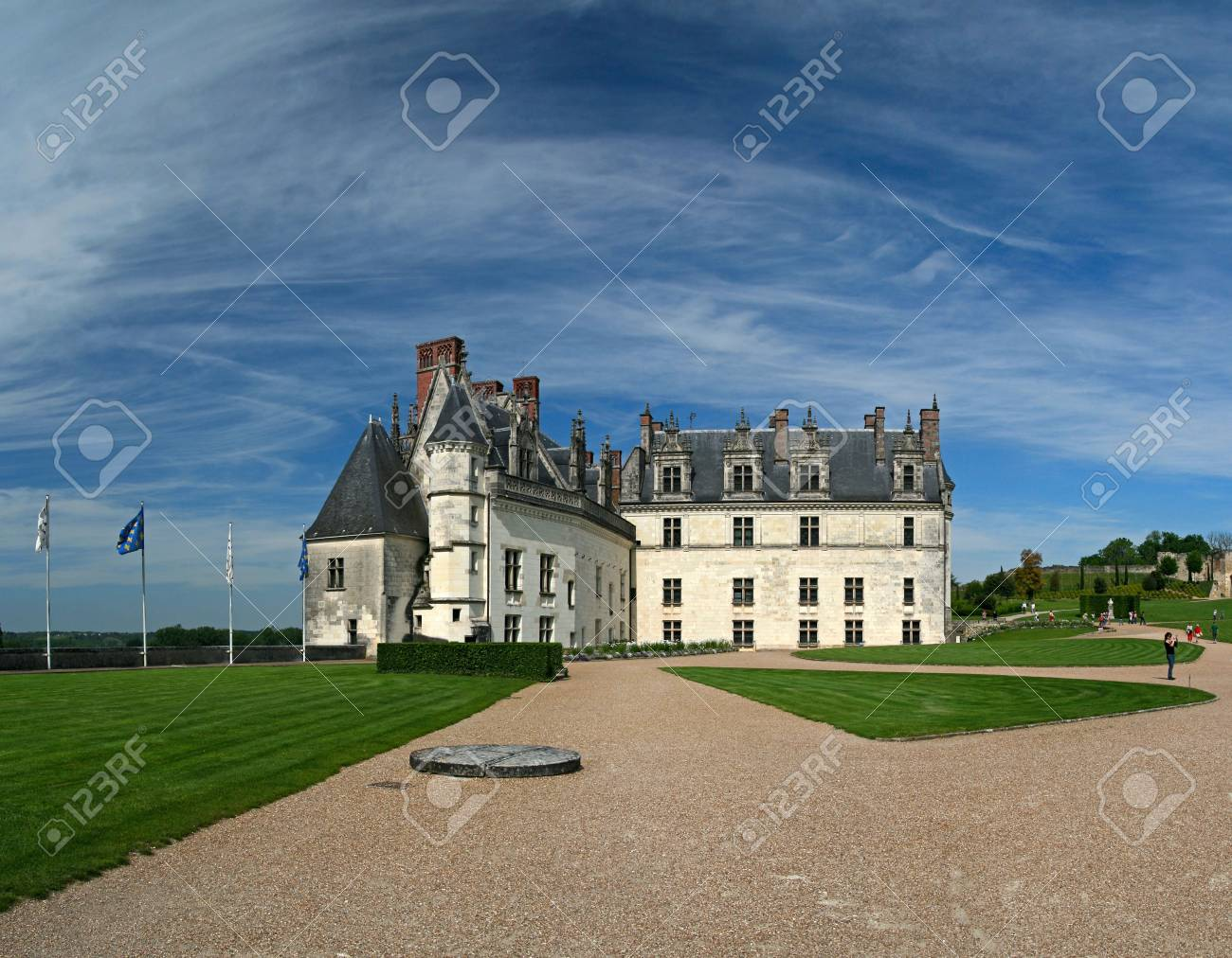 The chateau of Amboise in the Loire valley, France Stock Photo - 3264697
