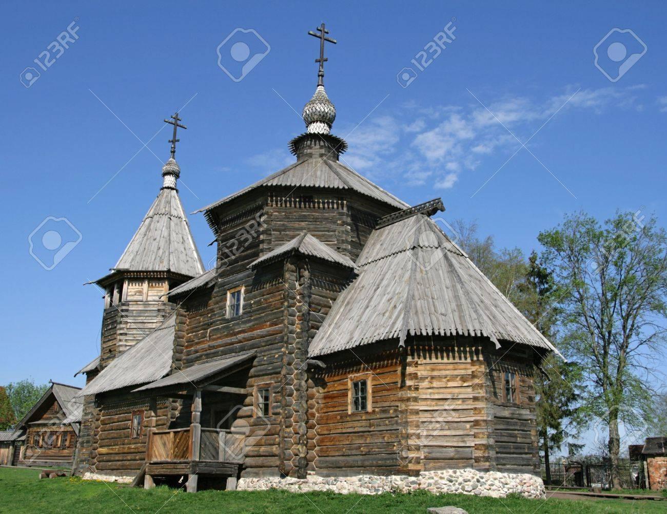 Transfiguration Church from village Kozliatyevo (1756), Museum of Wooden Architecture, Suzdal. Golden Ring, Russia Stock Photo - 4852300