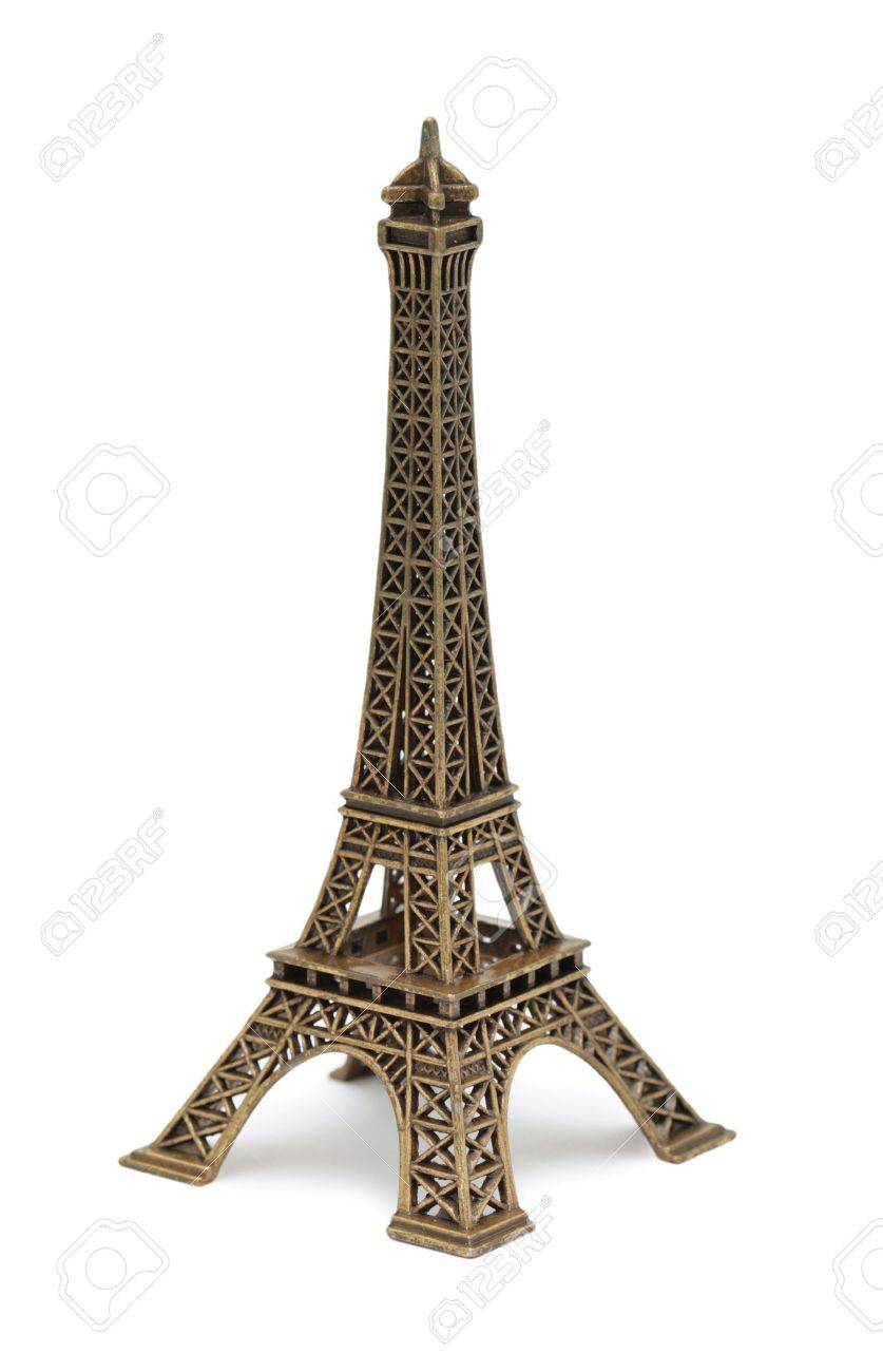 Eiffel Tower Statue, isolated on a white background Stock Photo - 7073637