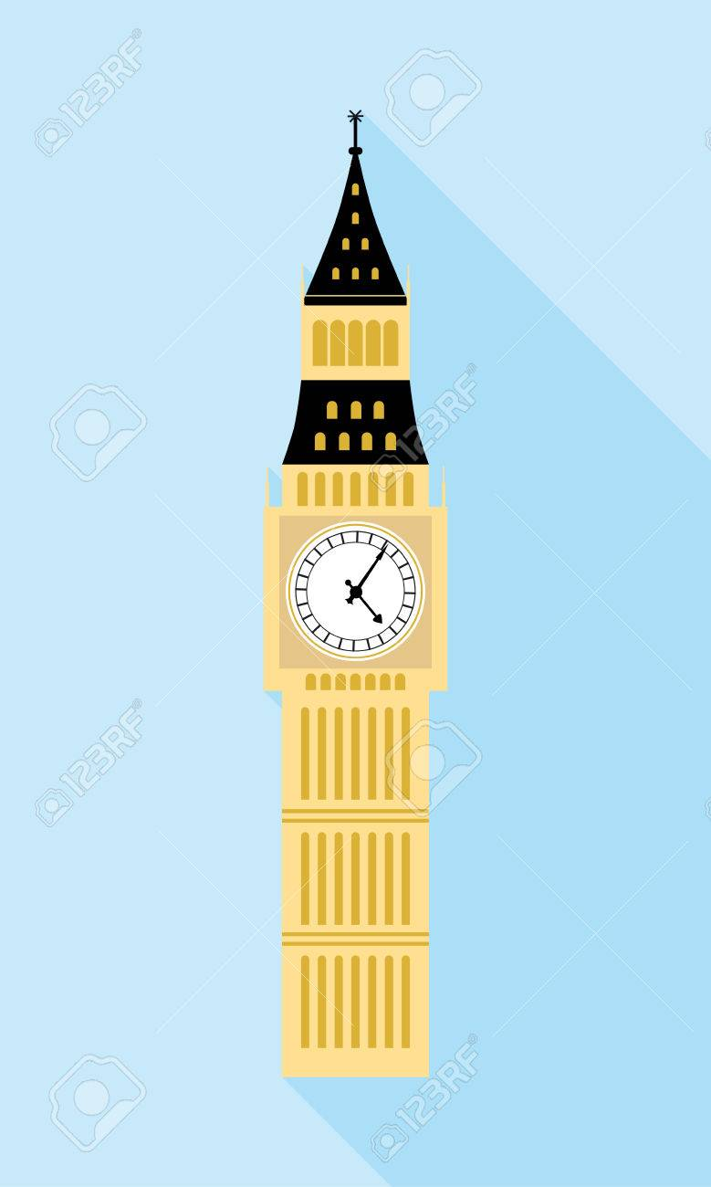 big ben london a simple icon in flat style with shadow colorful rh 123rf com big ben vector free big ben vector free download
