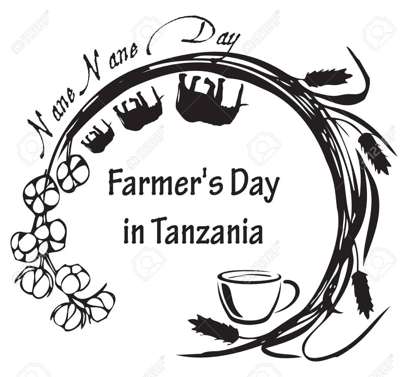 Stamp Symbol For The National Holiday In Tanzania Tanzania Annually