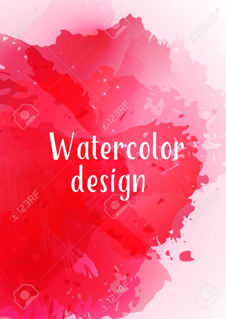 vector watercolor background modern abstract background with