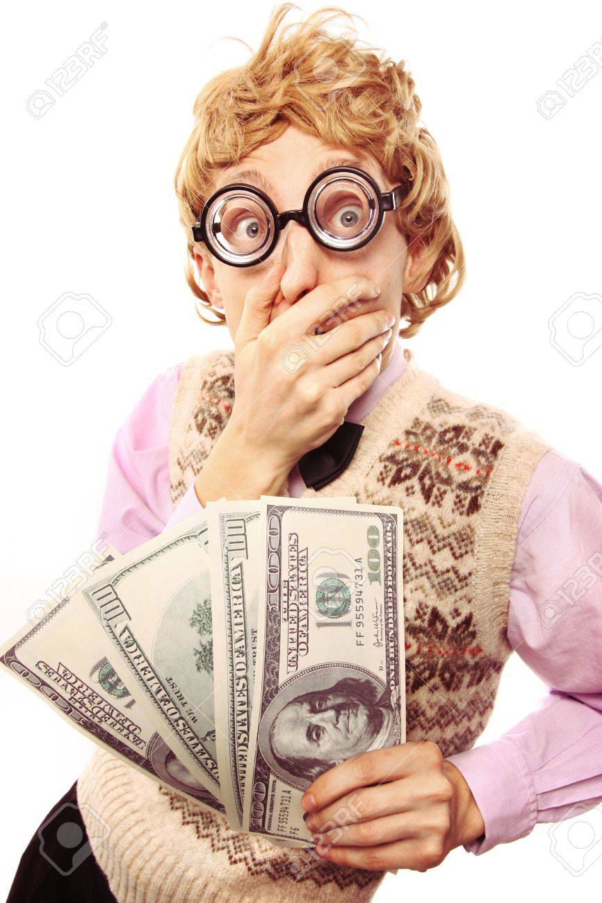 Greedy nerd Stock Photo - 16498878