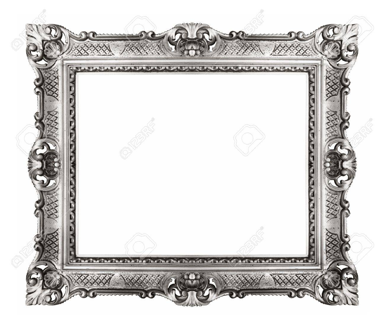 882146d3baa Silver vintage ornate frame Stock Photo - 16572512
