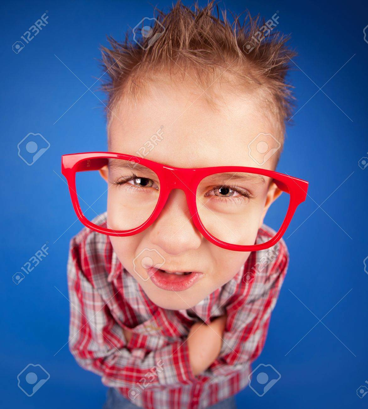 4a782f94098a Funny five years old boy with expressive face, misbehave concept Stock  Photo - 18057518