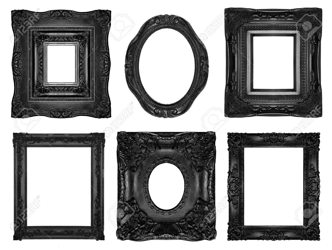 Black Ornate Frames Stock Photo, Picture And Royalty Free Image ...