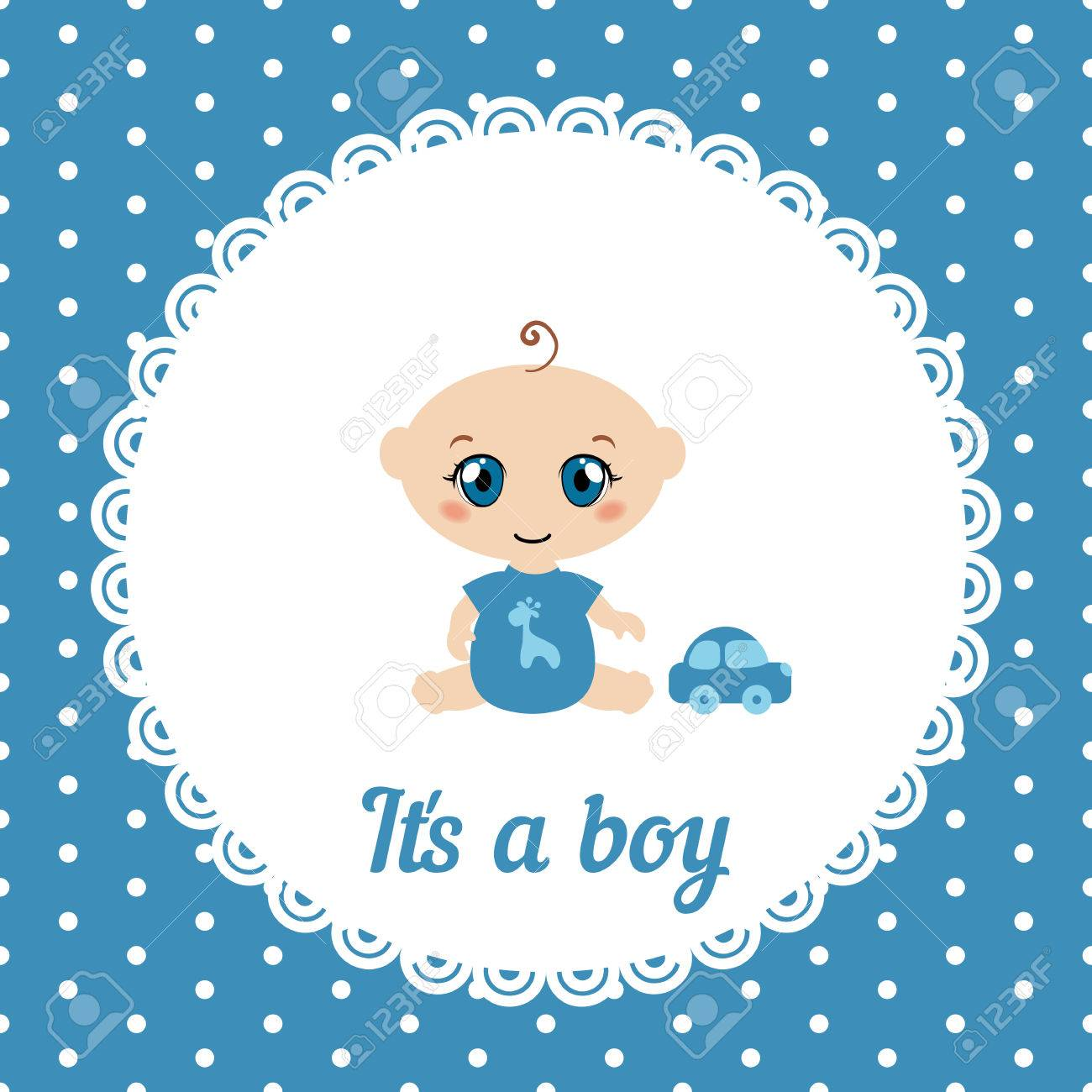 baby boy shower card it s a boy card royalty free cliparts
