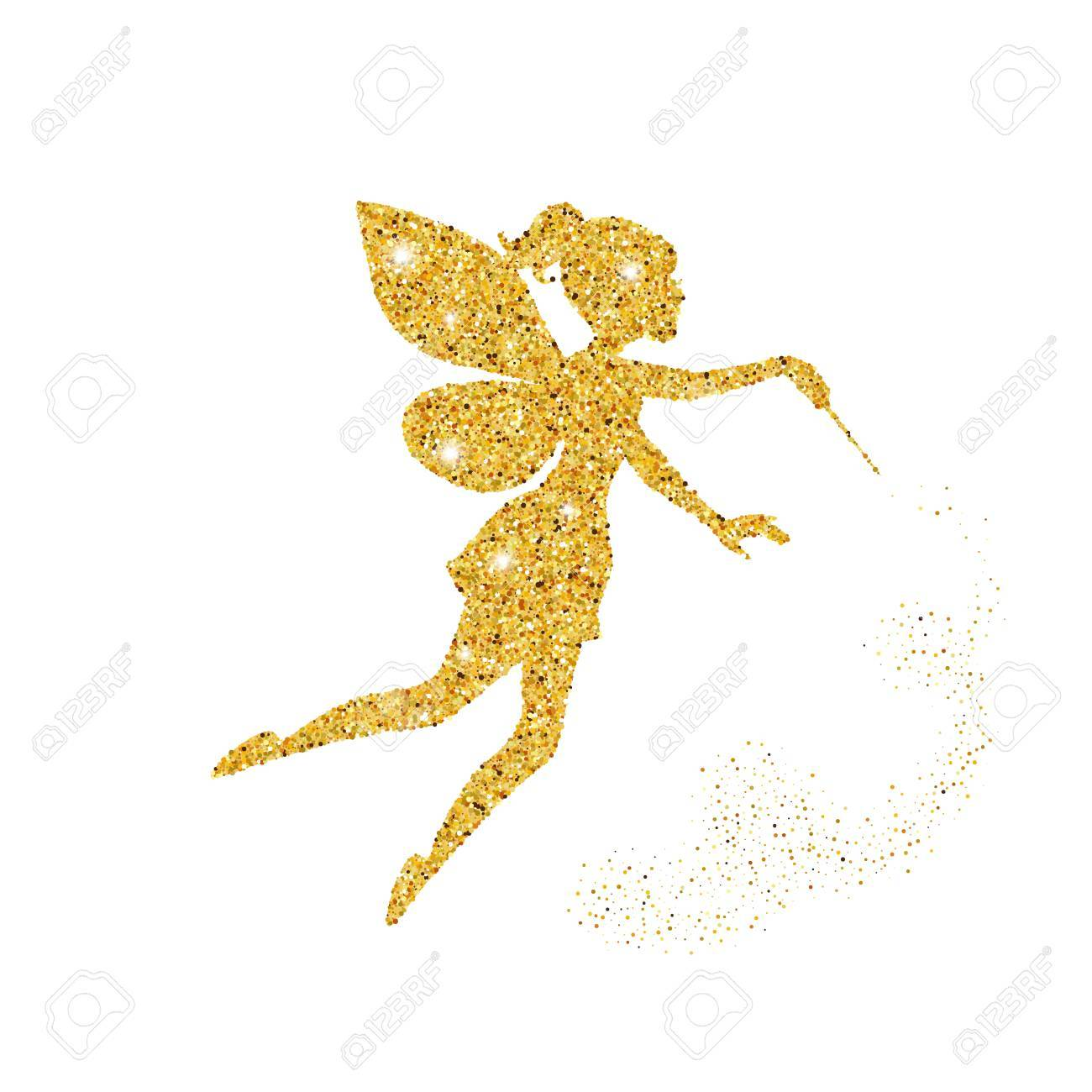 Magical fairy with dust glitters on white background. - 81060622