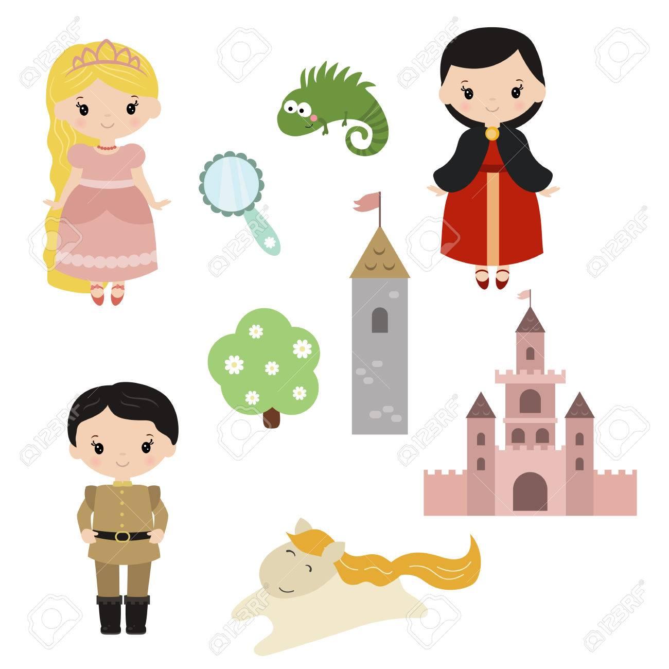 かわいい美しい王女プリンセス ラプンツェル城王子運送王女の