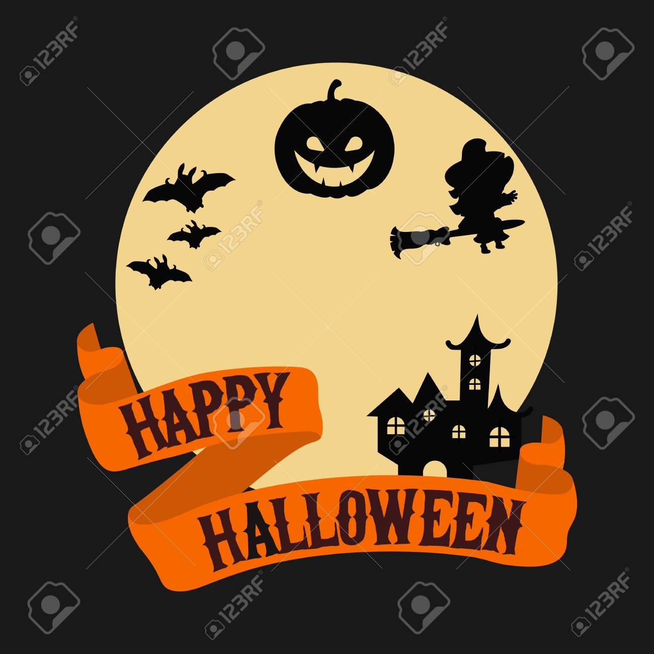 happy halloween poster halloween background illustration for