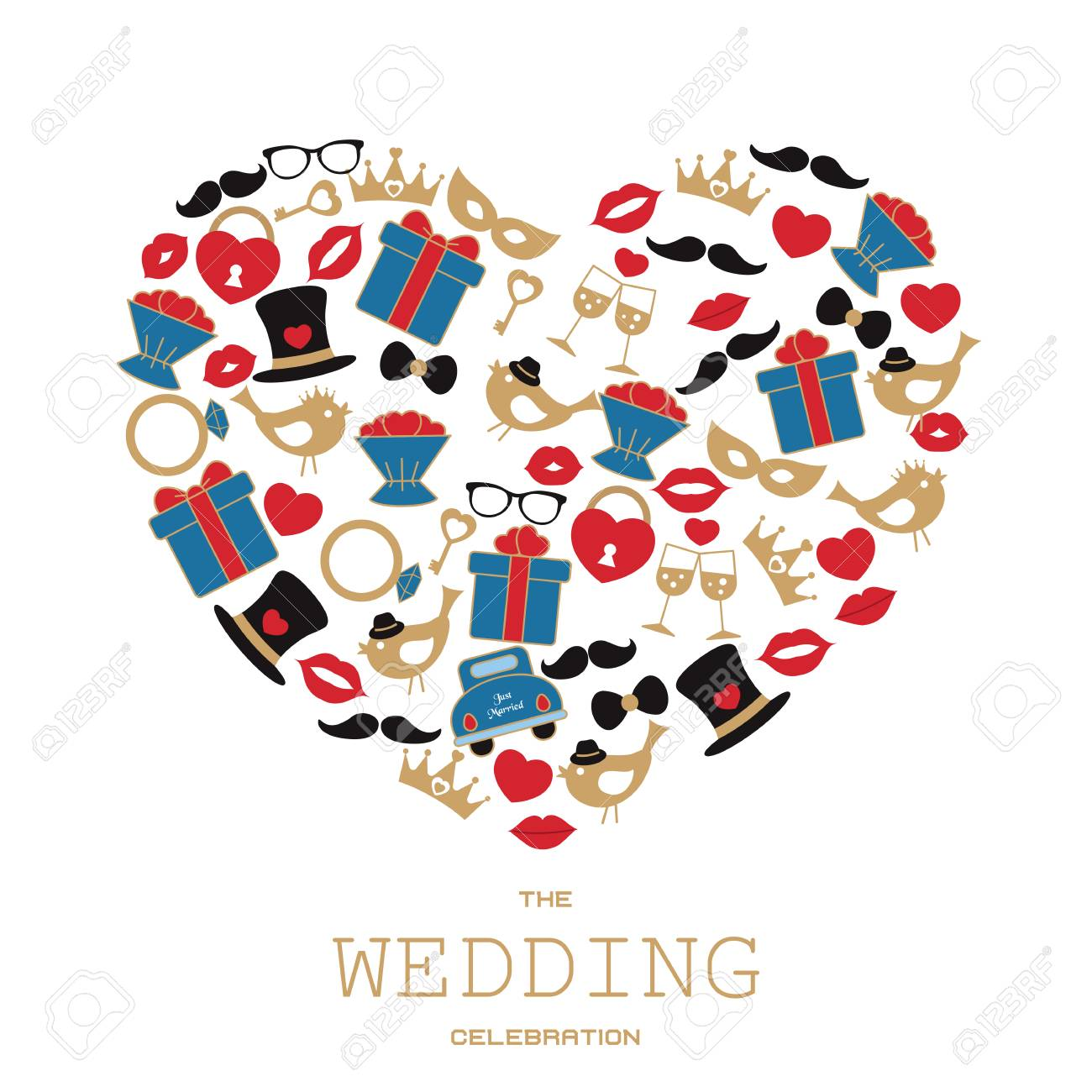 wedding vector background with wedding objects and icons can rh 123rf com wedding vector free wedding vector png