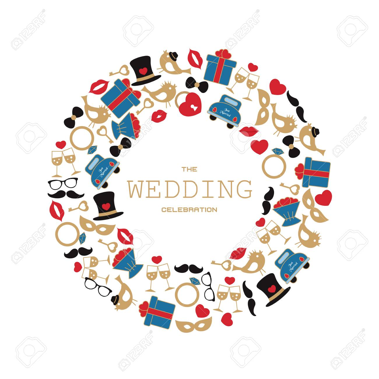 wedding vector background with wedding objects and icons can rh 123rf com free wedding vectors for commercial use free wedding vectors downloads
