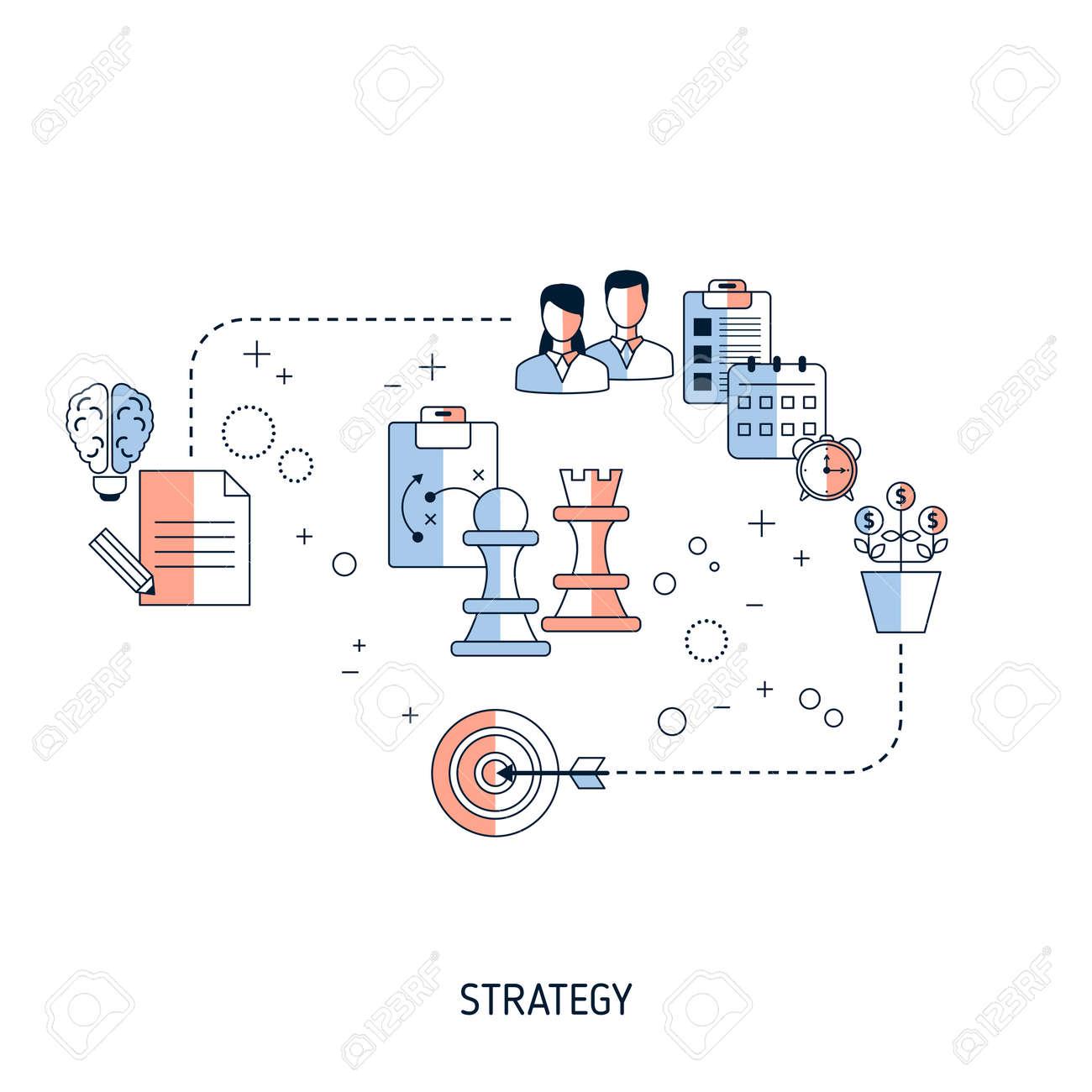 Business Strategy concept. Vector illustration for website, app, banner, etc. - 146164817