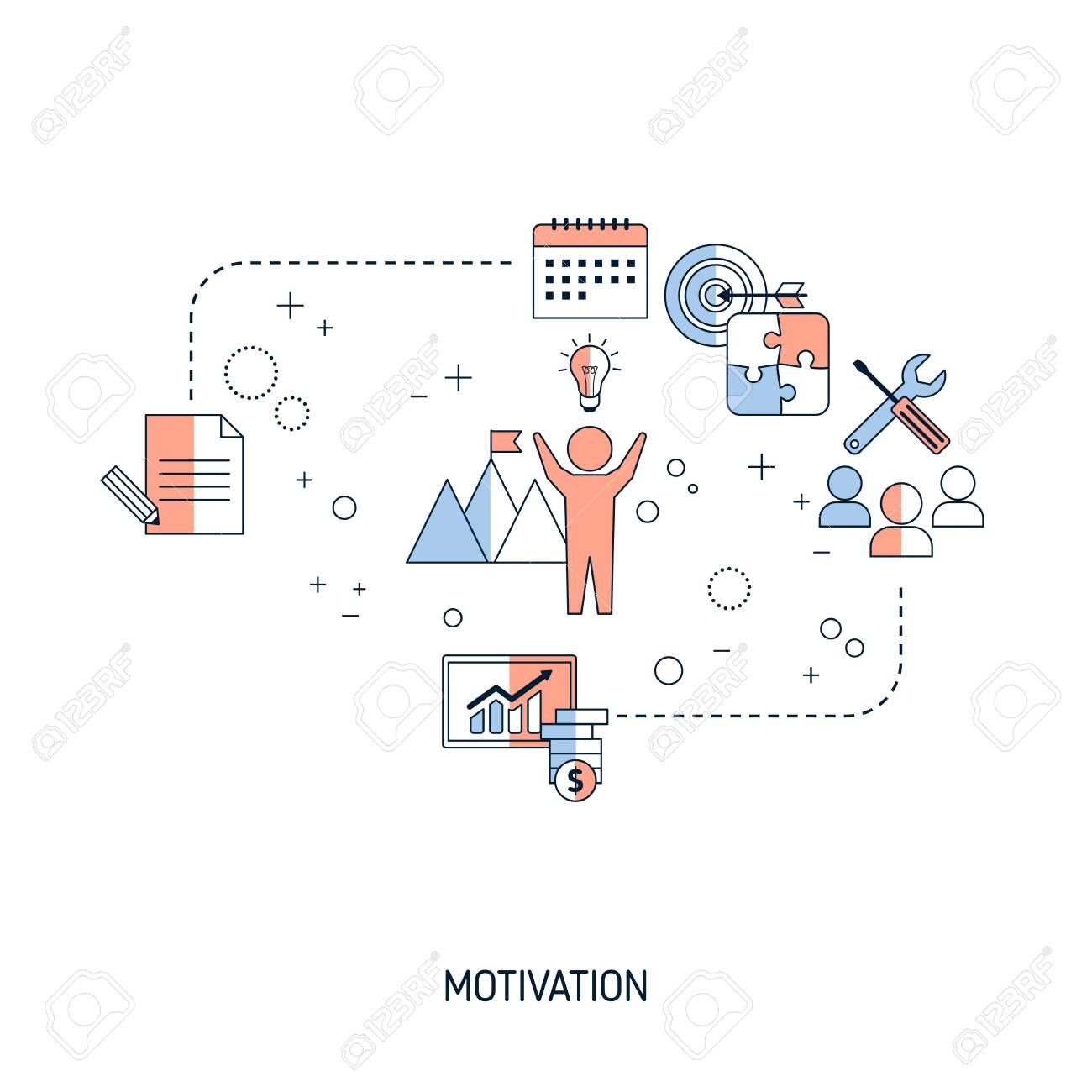Motivation concept. Vector illustration for website, app, banner, etc. - 148182117