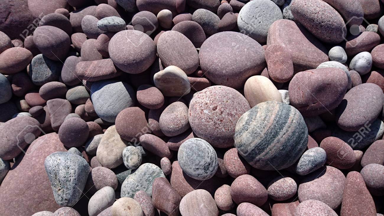 Pebbles Background, Rocks, Nature Landscape, Purple Pebble