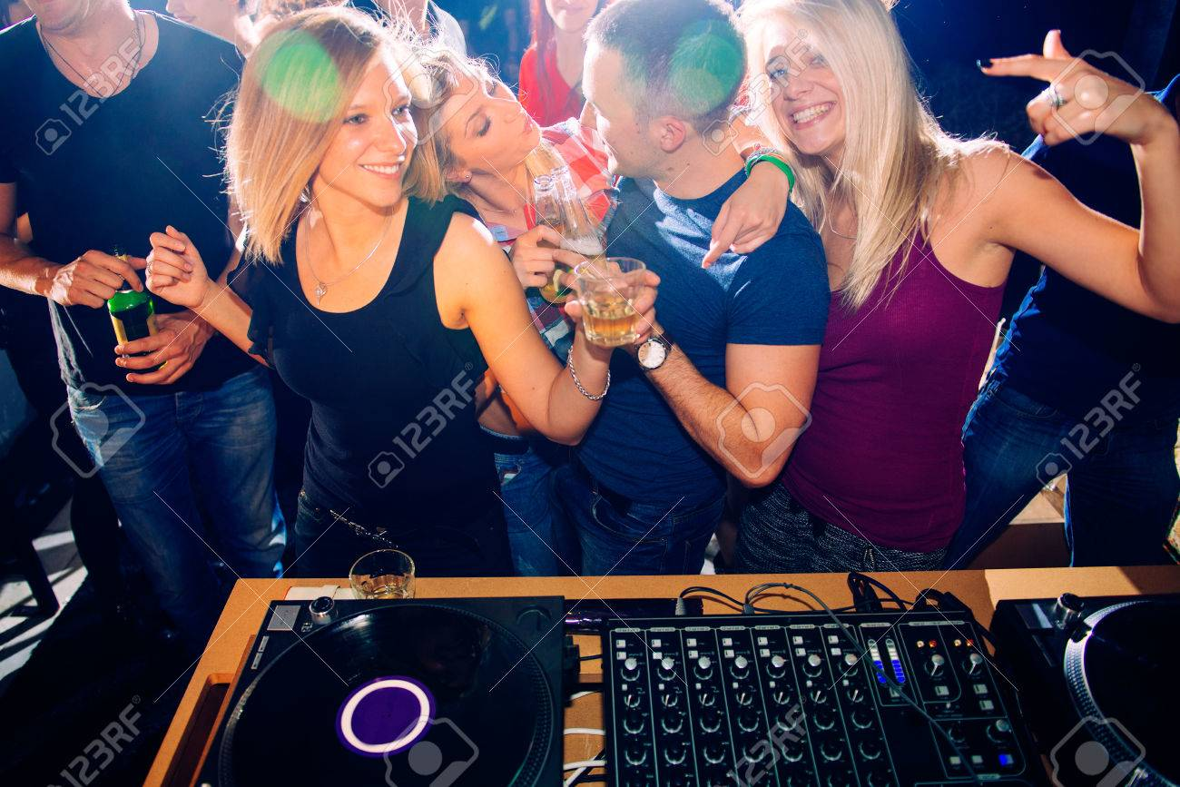 Party people in front of DJ - 29821910