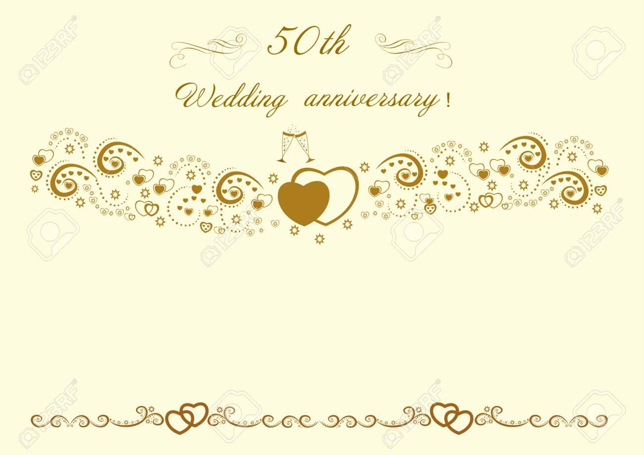 50th wedding anniversary invitation editable and scalable vector 50th wedding anniversary invitation editable and scalable vector illustration eps10 illustration stock vector 91554136 stopboris Image collections