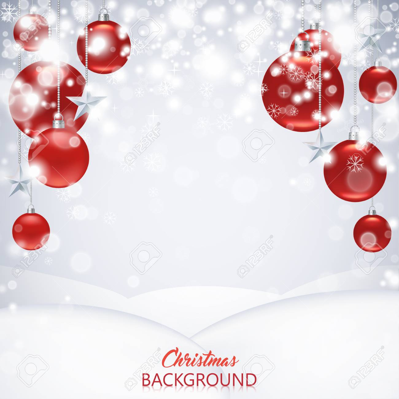 Elegant Christmas Background Images.Elegant Christmas Background With Red Frosted And Glossy Christmas