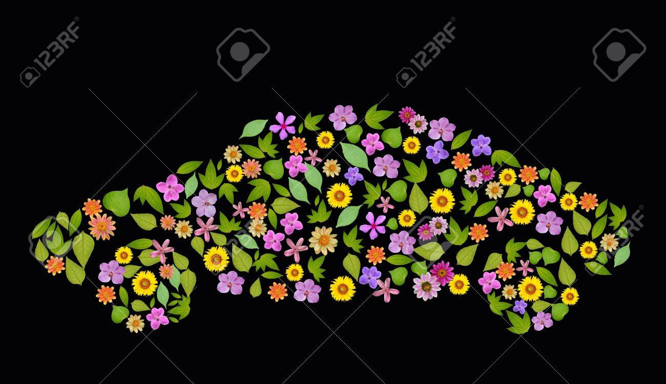 flower car Icon. Pollution Concept. Go Green, ecology concept, high resolution, create from real flower and leaf Stock Photo - 10845499