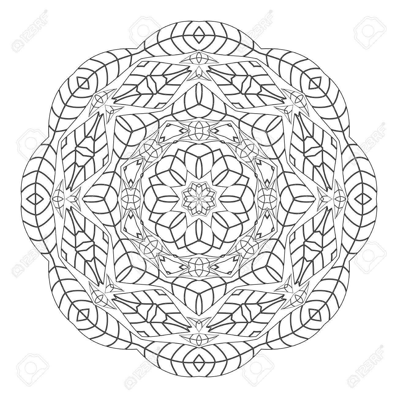 Mandala Antistress Malvorlagen Für Erwachsene Monochrome