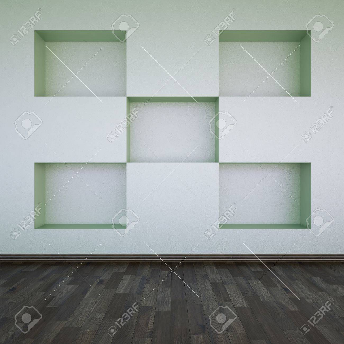 A wall with empty shelves Stock Photo - 9818955
