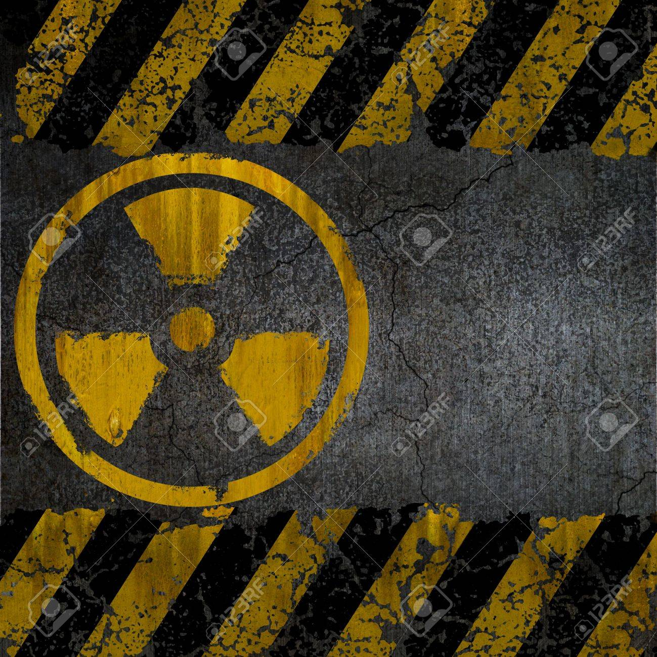 Warning radiation background texture Stock Photo - 9818969