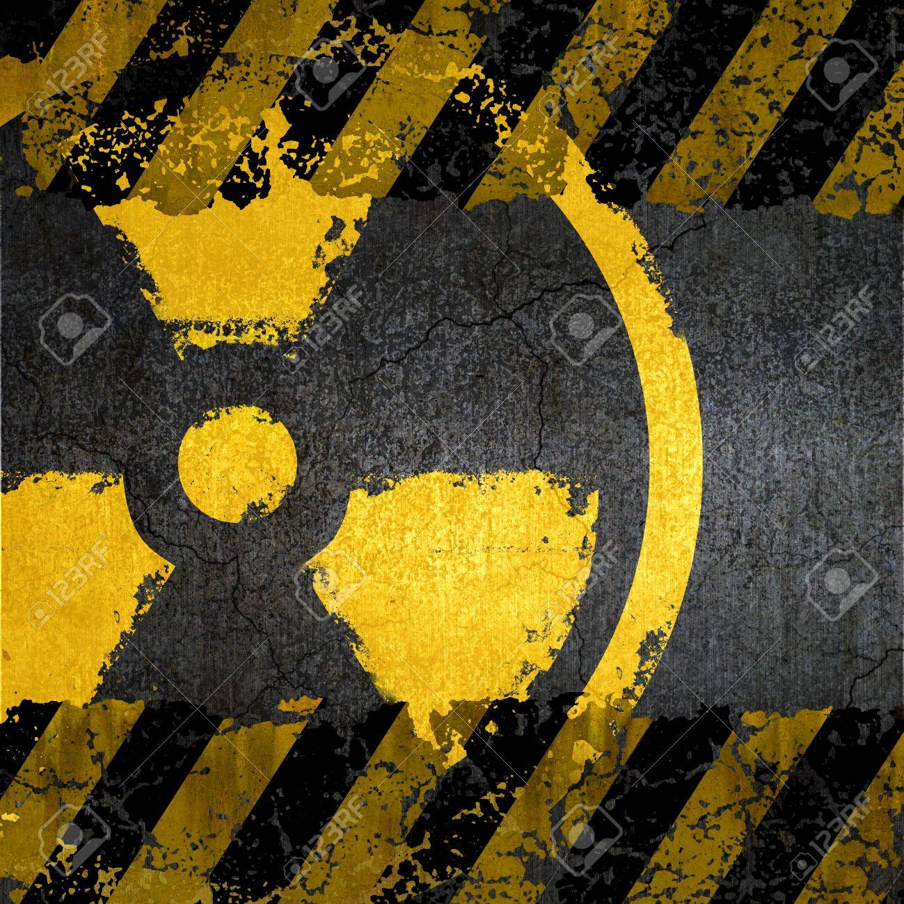 Warning radiation background texture Stock Photo - 9827129