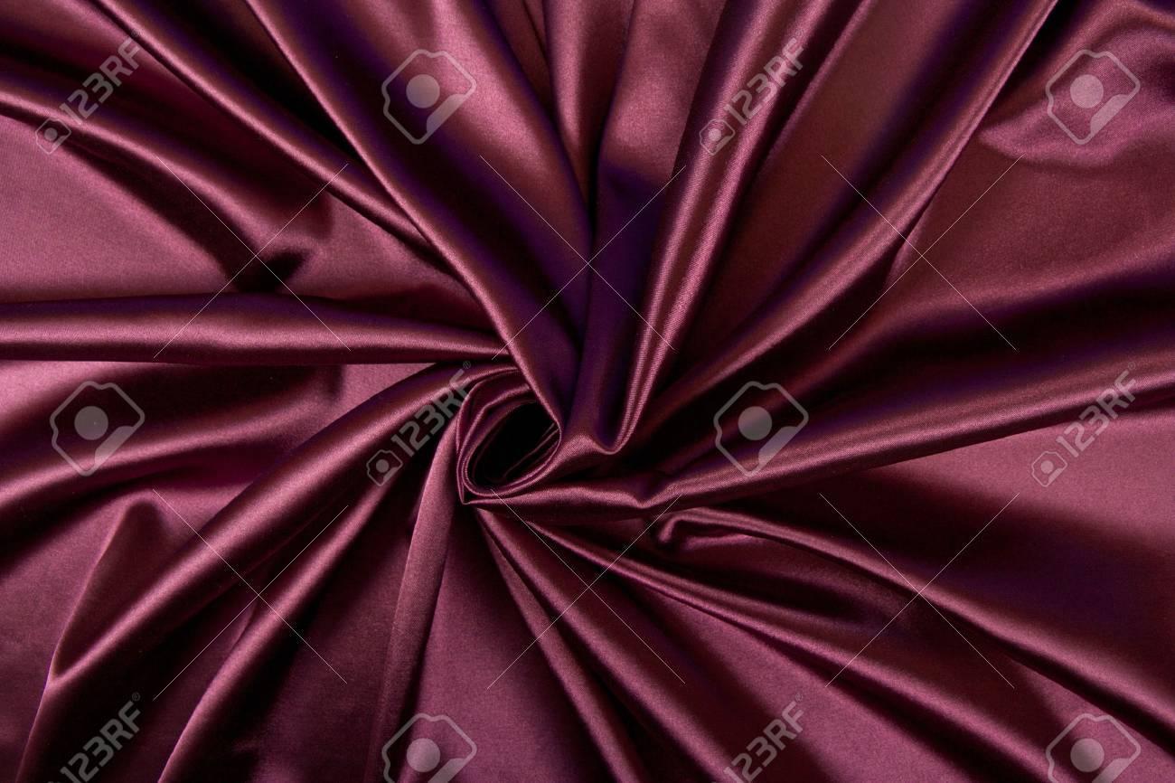 Satin red fabric - 11722642
