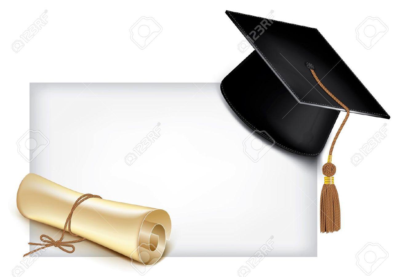 Graduation Cap And Diploma Royalty Free Cliparts Vectors And Stock