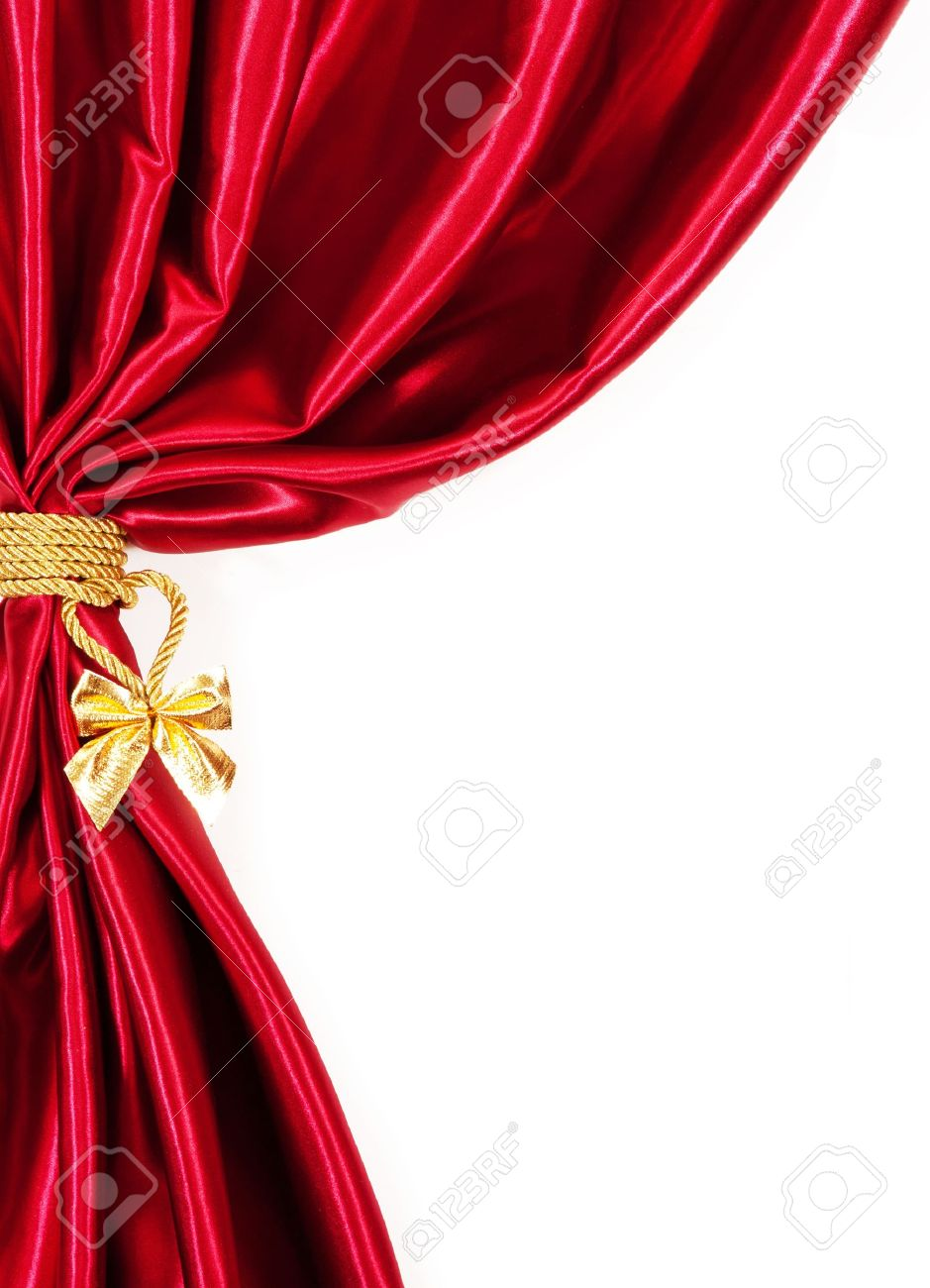 Royalty free or white curtain background drapes royalty free stock - Silk Curtains Isolated On White Background Stock Photo 16724651