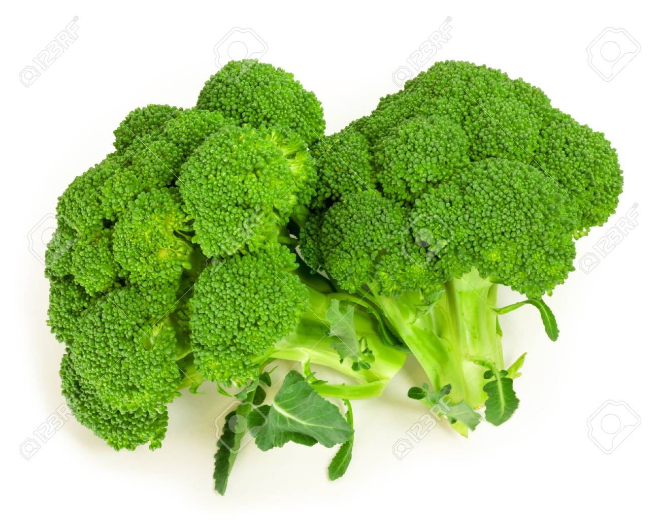 broccoli isolated on white - 17960877