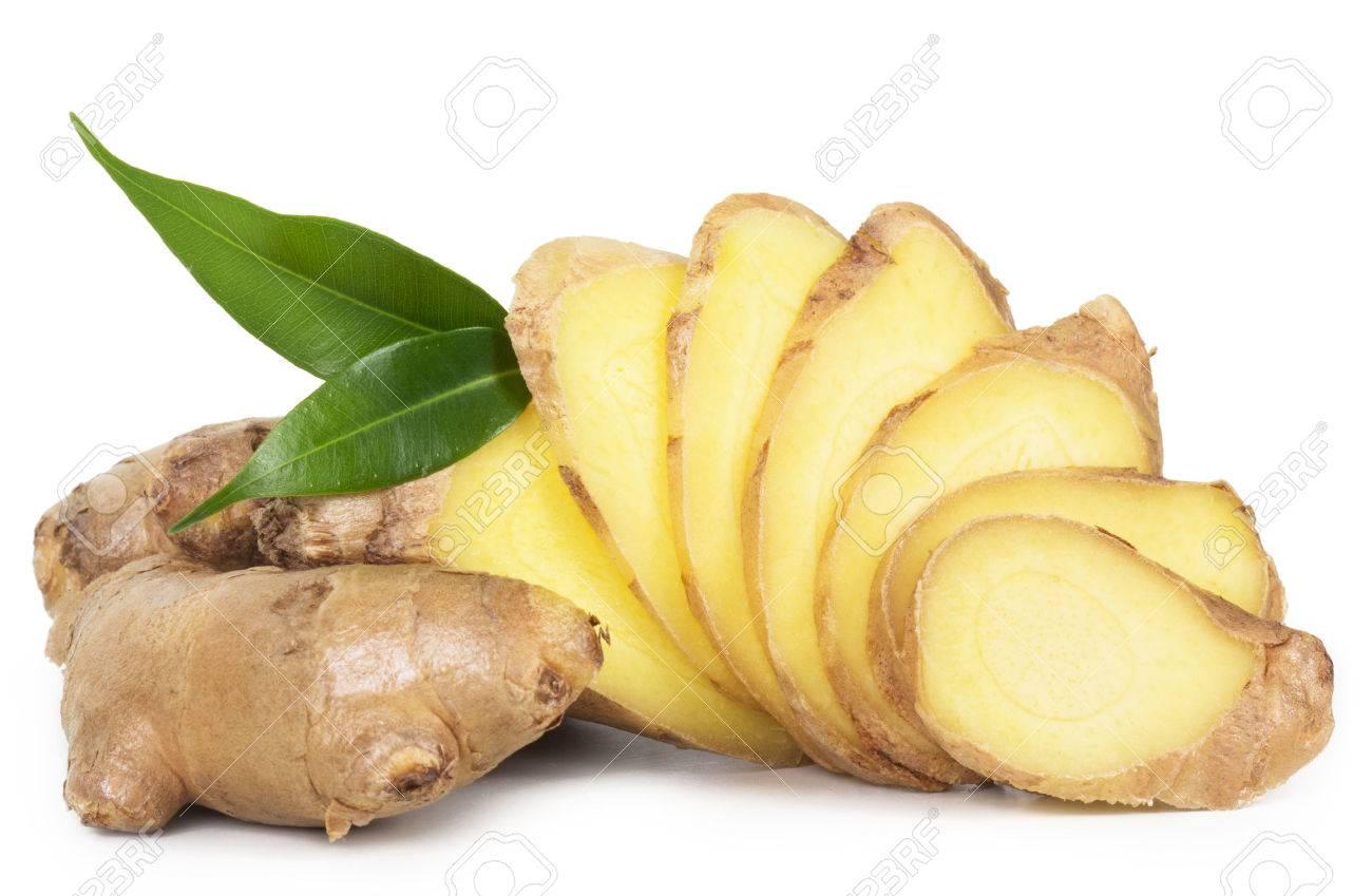 Fresh ginger isolated on white background - 41093048