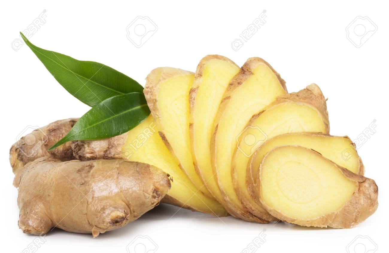 Fresh ginger isolated on white background - 41109385