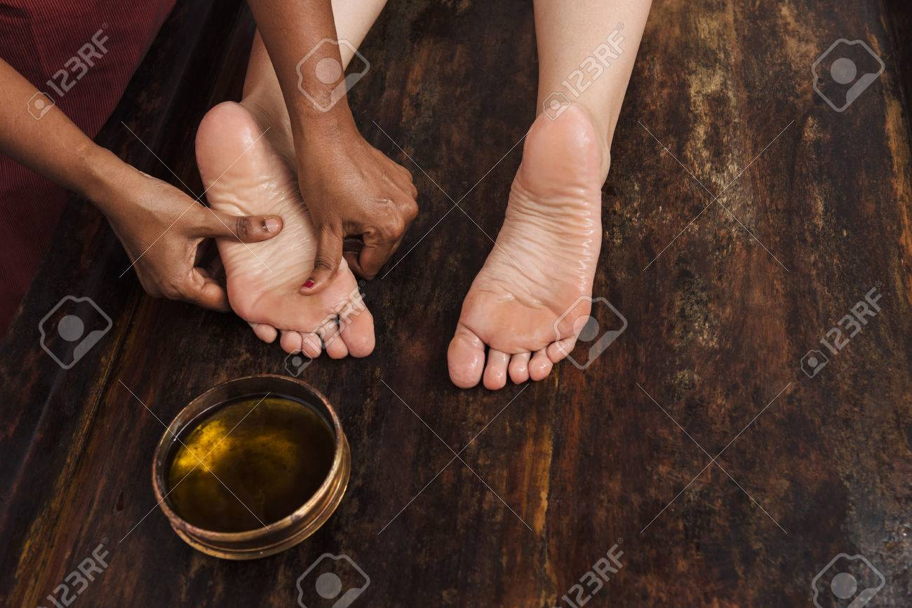 Asian massage oil view