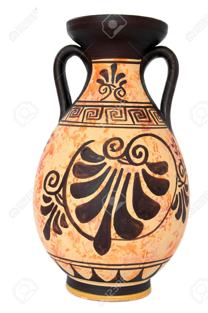Ancient greek orange vase isolated over white stock photo picture ancient greek orange vase isolated over white stock photo 2905972 reviewsmspy