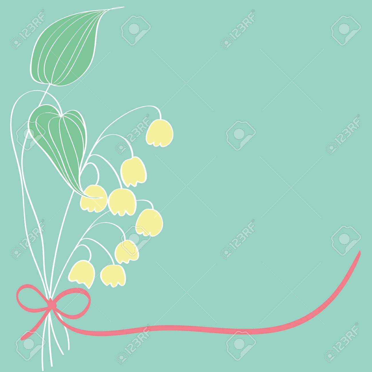 Lily of the valley card pattern design,vector Stock Vector - 14923582