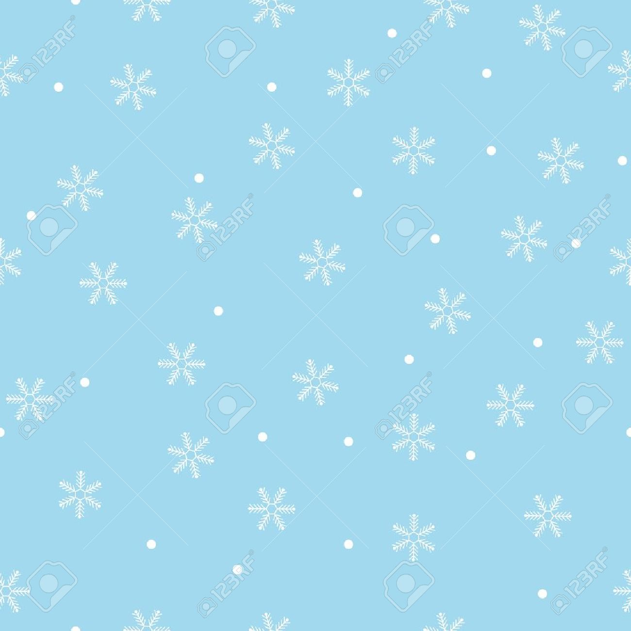 Seamless snowflake pattern blue background,vector Stock Vector - 15705863