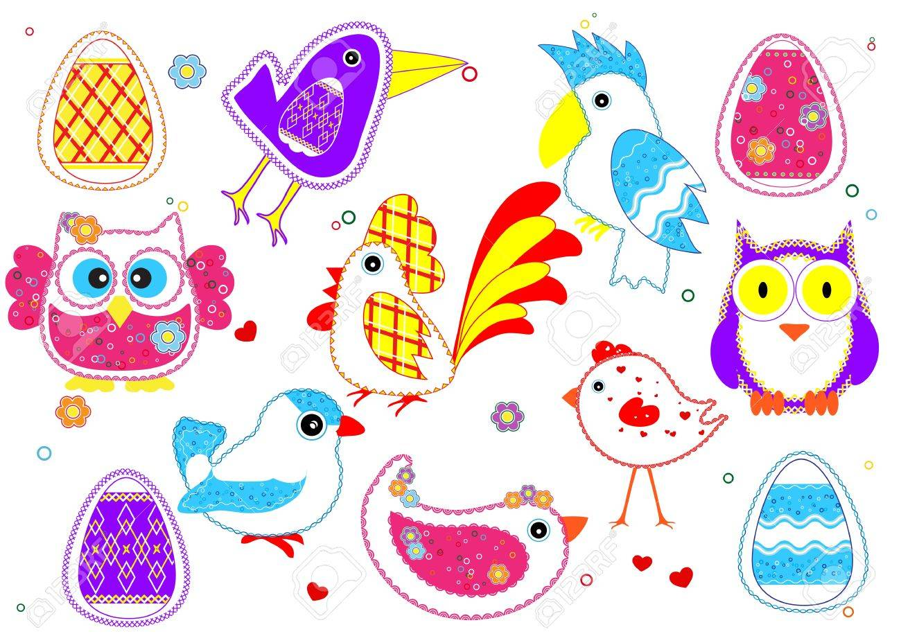set of birds for kids royalty free cliparts vectors and stock