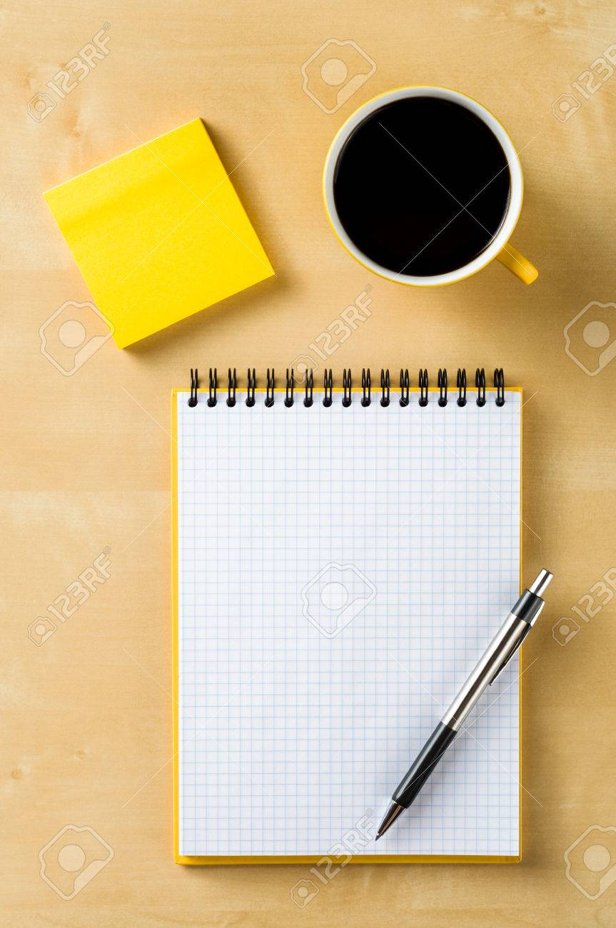 office table top view. Office Table Top View Stock Photo - 29838369