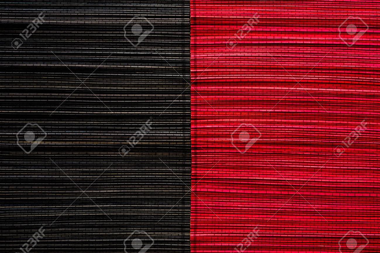 Rosso E Nero Stuoia Di Bambù Texture O Di Sfondo