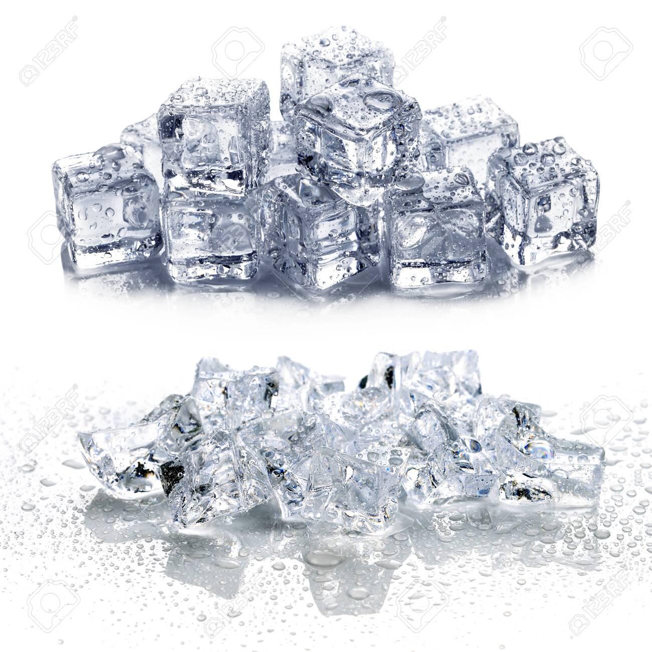 ice isolated on white background - 122185015