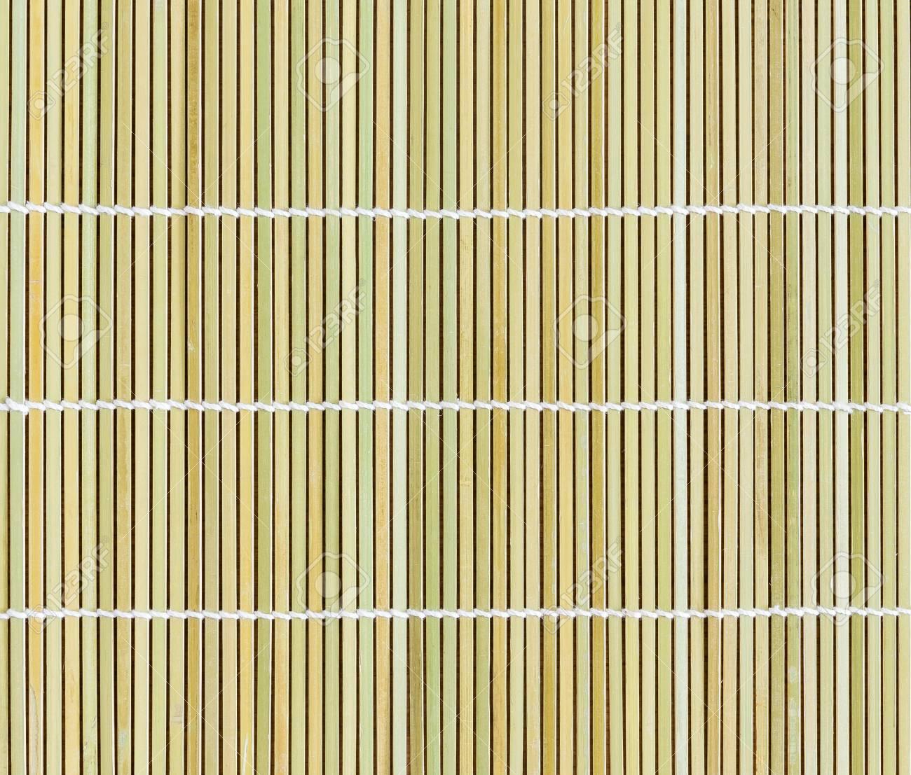 Bambus Tischset Stroh Holz Hintergrund Naturlichen Dekor Lizenzfreie