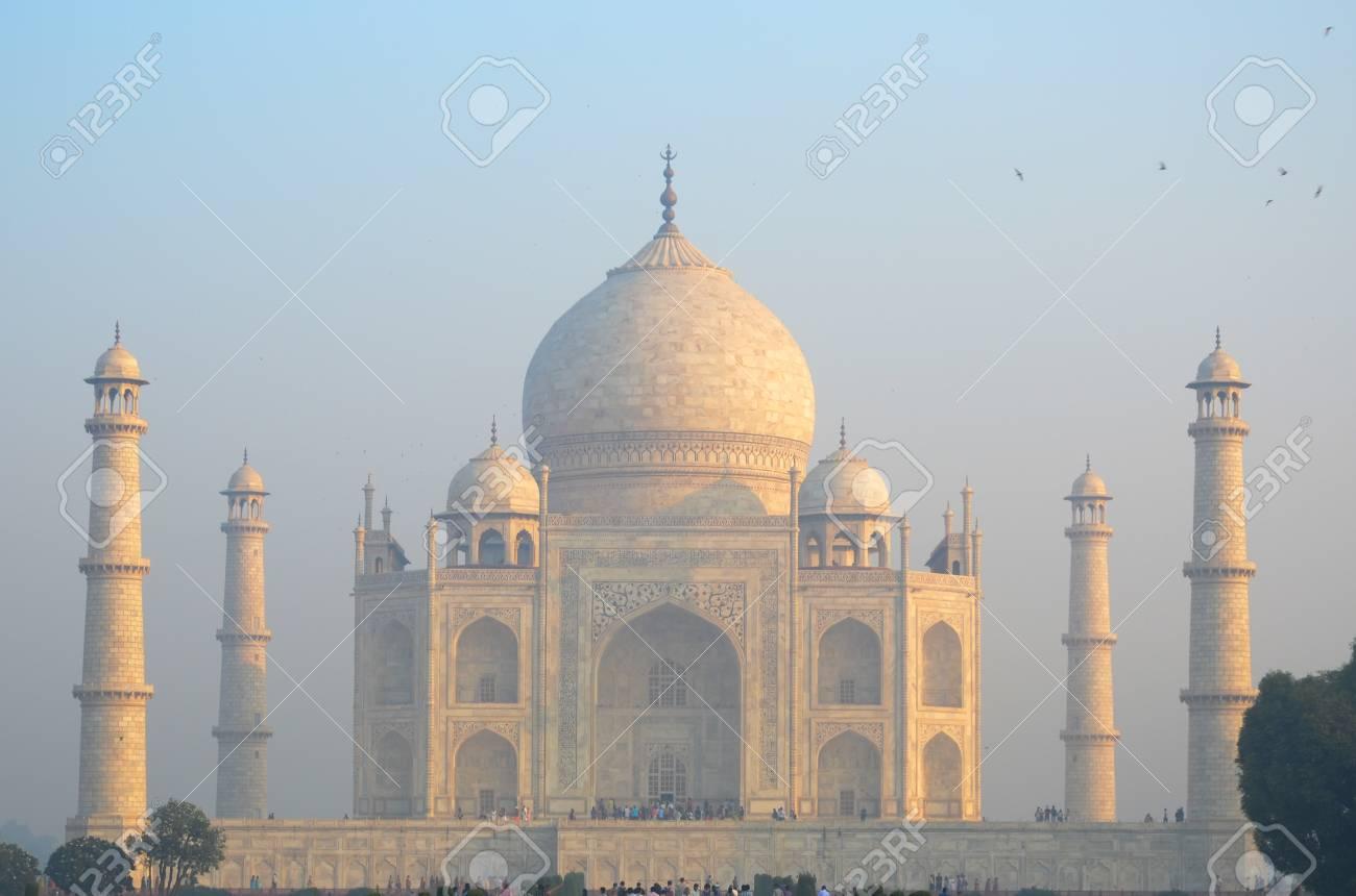 Original Inside View Of Taj Mahal With Yellow Light Have A Birds