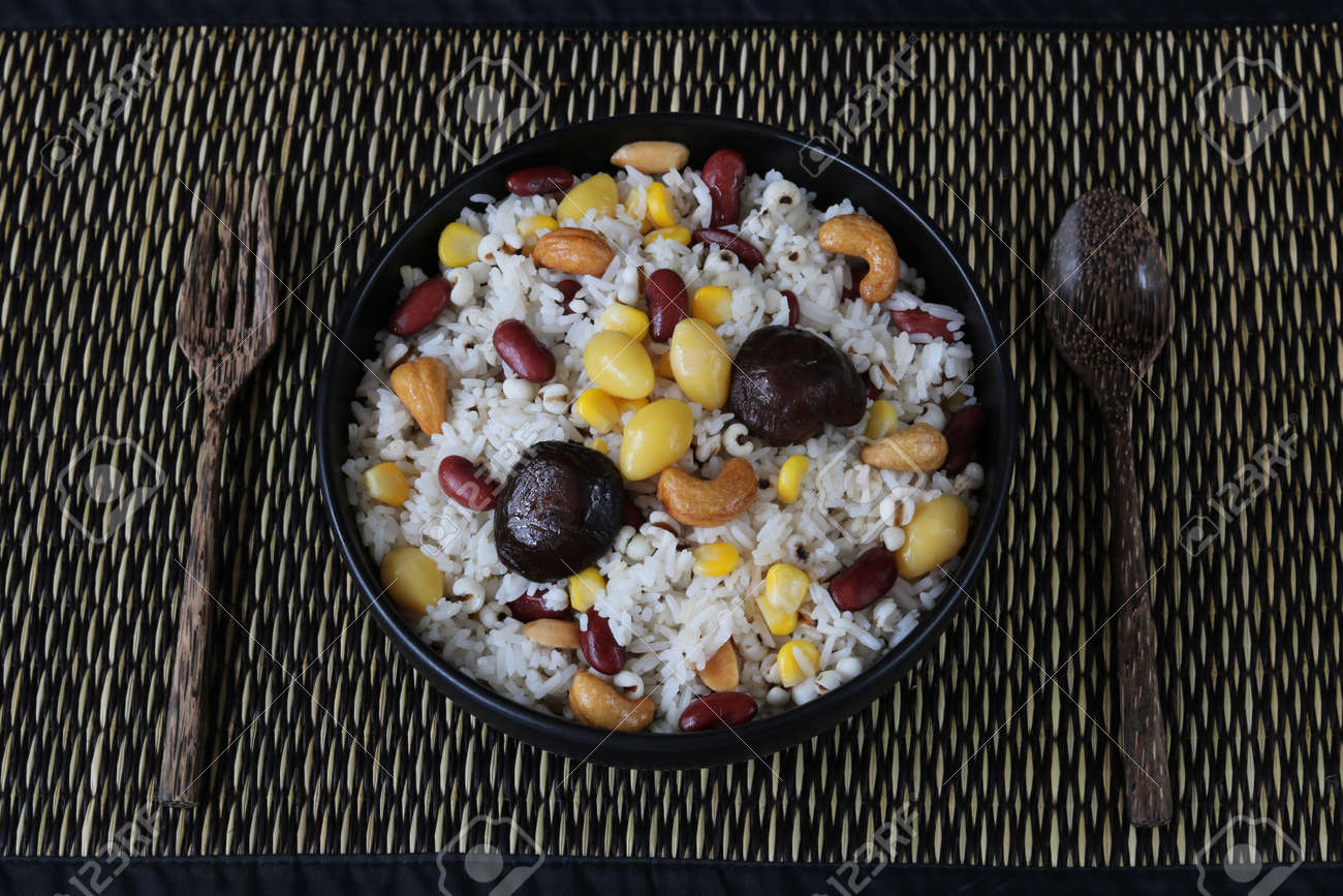 Fried rice grains.Homemade meal for good health - 157211847