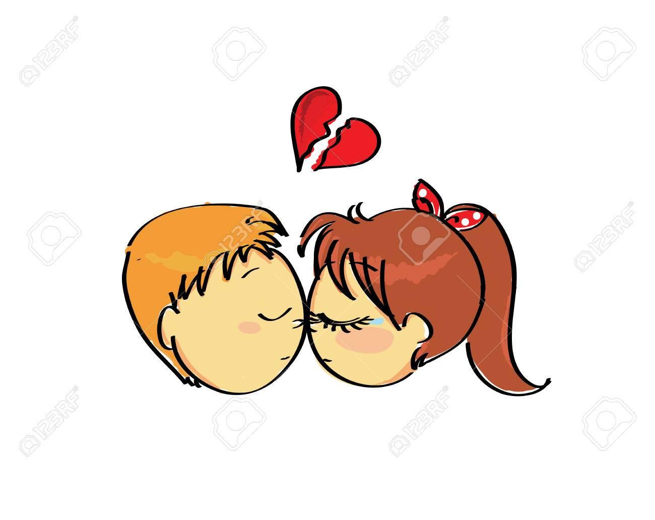 couple with broken heart - 23639676