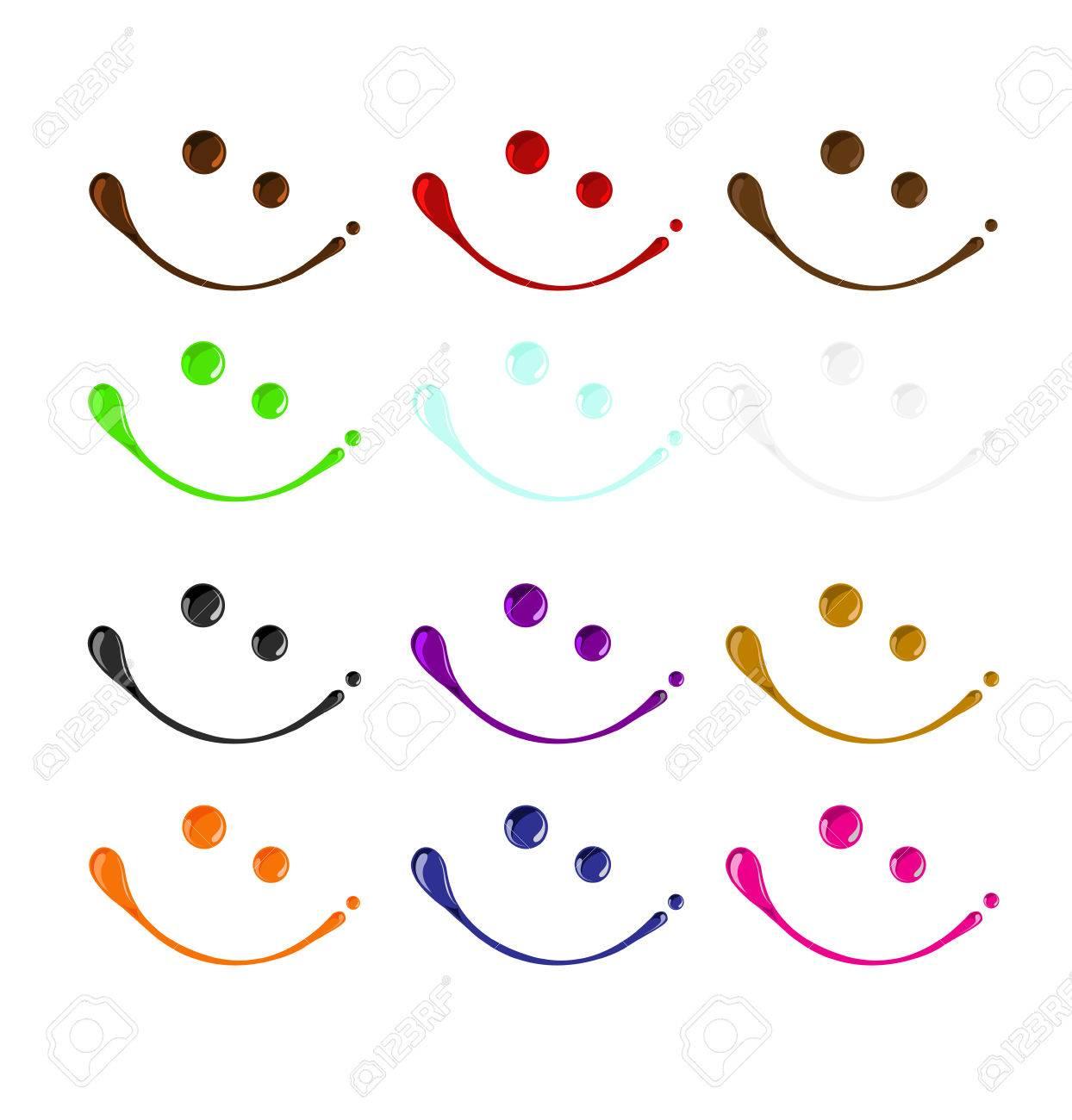 farben mischen von lächelnden gesichtern lizenzfrei nutzbare