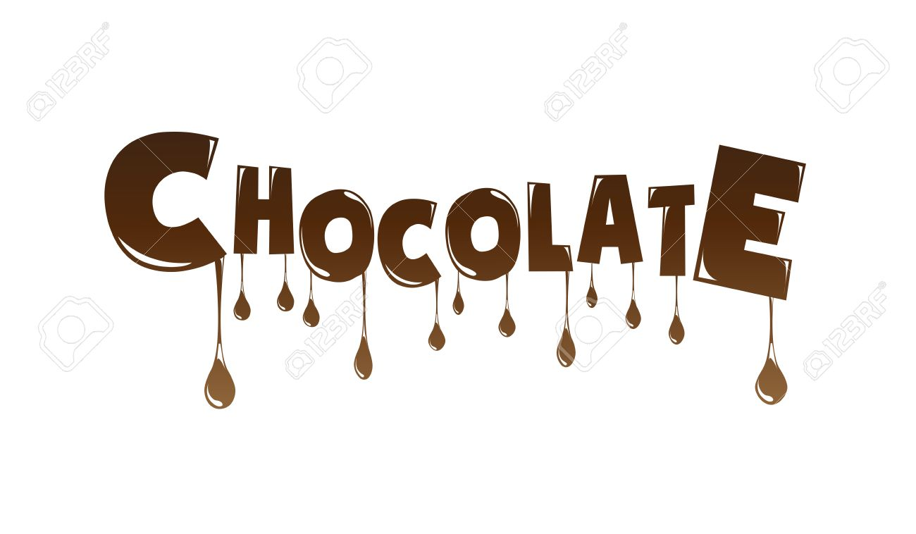 Chocolate Text Made Of Chocolate Melting Vector Design Element ...