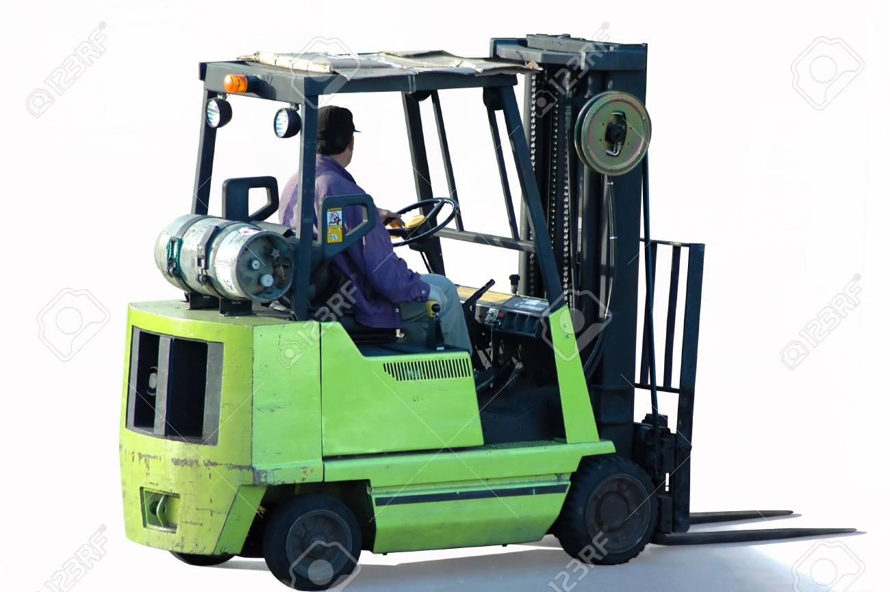 Forklift with operator Stock Photo - 3168559