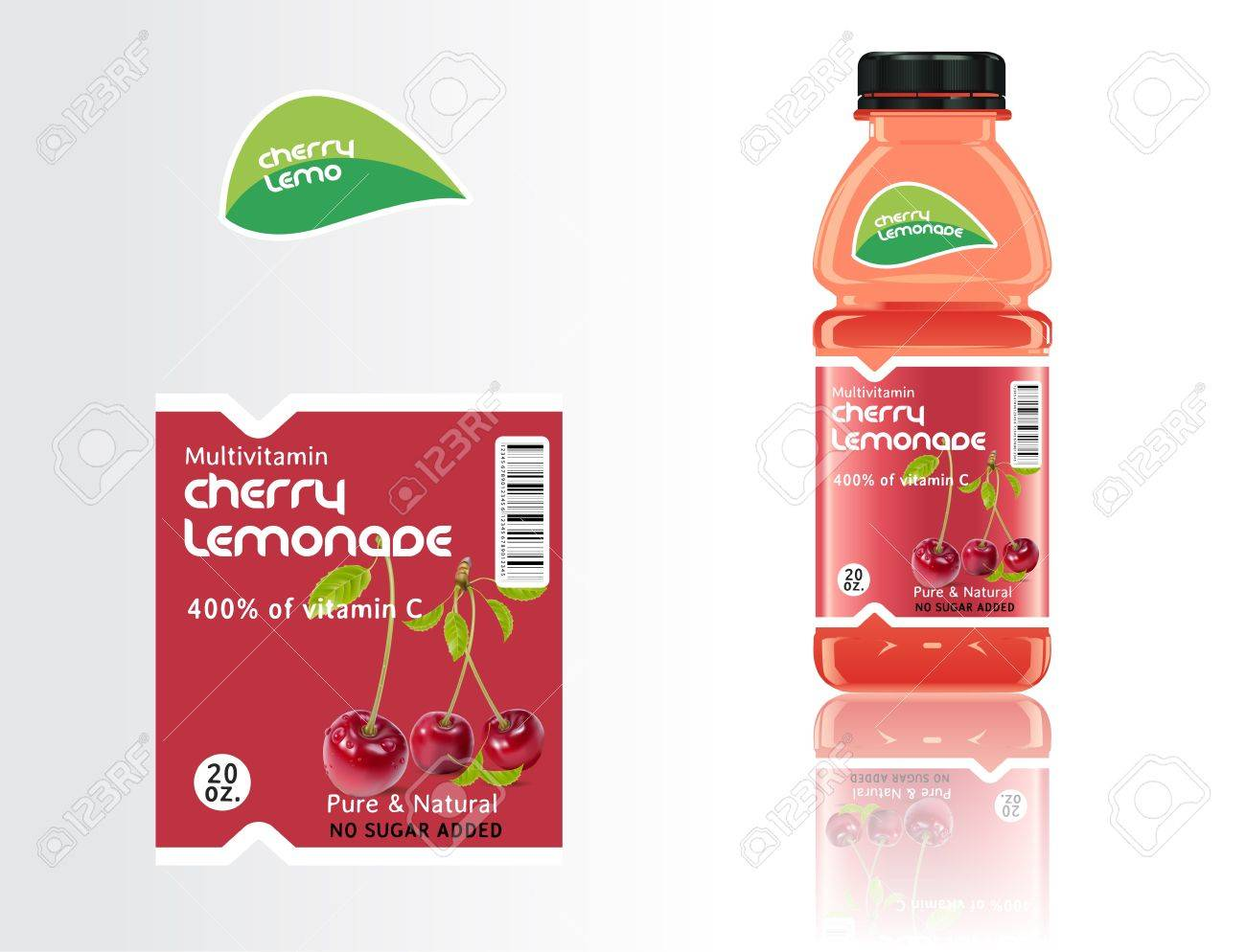 Set Of Bottles, Juice And Labels. Royalty Free Cliparts, Vectors ...