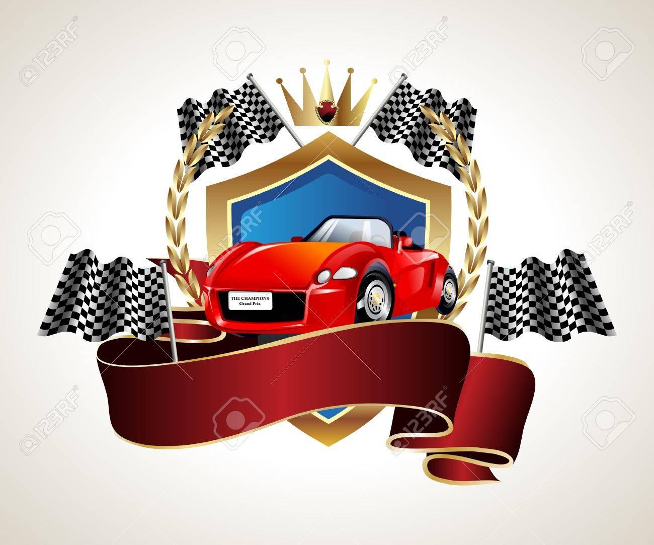 emblem car racing championship Stock Vector - 12476796